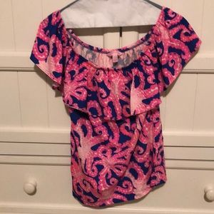 Never Worn Lilly Pulitzer off-the shoulder top